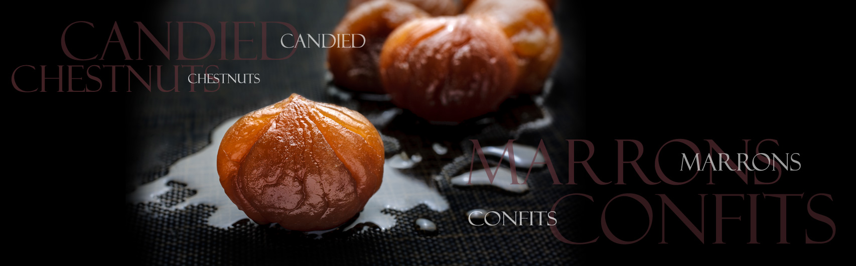 cardelion chesnuts confits marrons